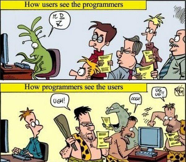 Programadores x Usuarios